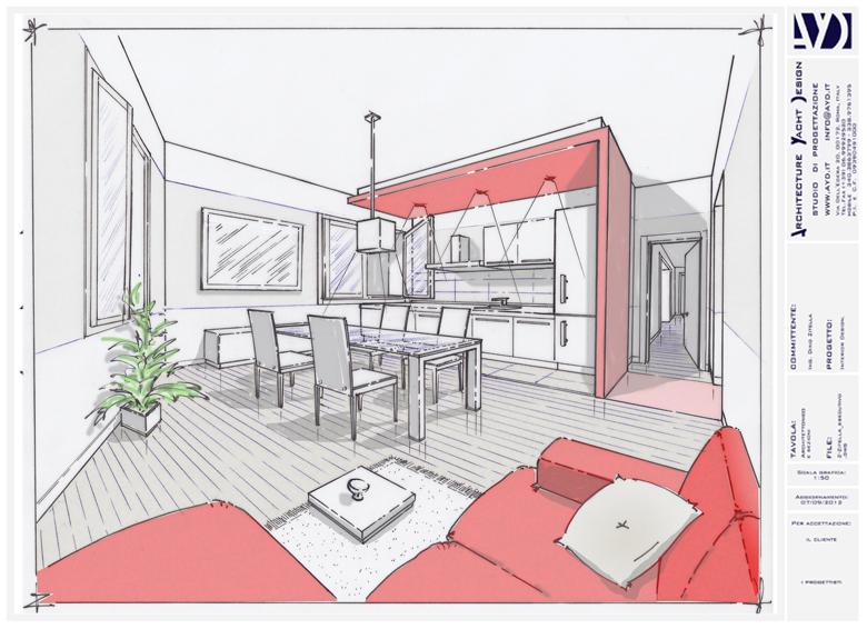 Progettazione definitiva for Progetti design interni