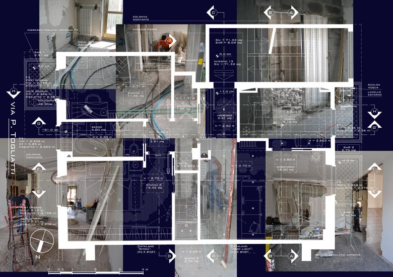 Via p togliatti don bosco roma particolare del soggiorno for Interior designer a roma